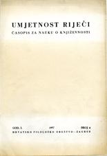 Umjetnost rijeci br. 4 1957